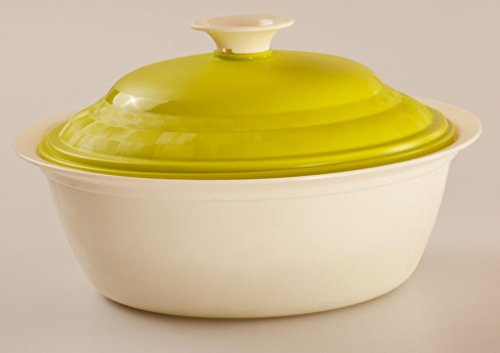 Cutting Edge Daffodil Royal Serving Dish, Set of 1, 1.8 Litre, Trendy Green  available at amazon for Rs.199