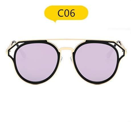 GFF Frauen Männer Runde Sonnenbrille Brille Männlich Weiblich Metallrahmen HD Objektiv Sonnenbrille Regenbogen Farbton