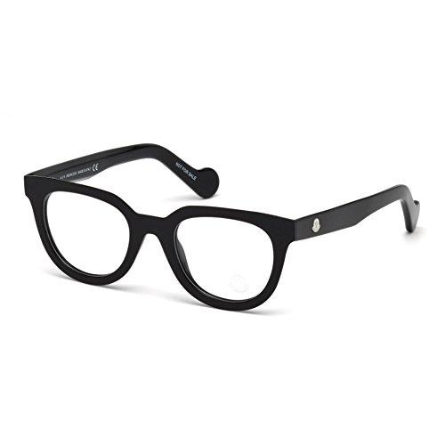 Moncler Unisex-Erwachsene Brillengestelle Ml5005, Schwarz (Nero LUCIDO), 47