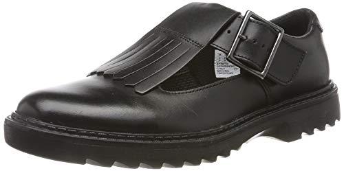Clarks Asher Verve Y, Ballerine Bambina, Nero (Black Leather Black Leather), 36 EU