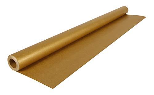 Clairefontaine 195775C Rolle (goldfarbenes Kraftpapier, 10 x 0,7 m, 60 g, PEFC, ideal für Ihre Bastelprojekte) 1 Stück gold
