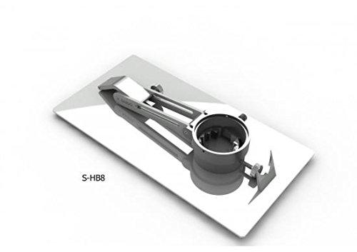 Saigo - Soporte Jamonero Profesional - Plegable y Giratorio, acero inox (510x260)