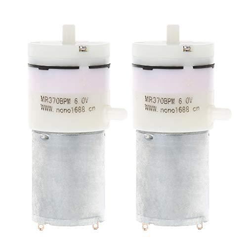 CARRYKT 2X DC 3V-6V 5V 370 Motor Micro Mini Air Pump Vacuum for Aquarium Tank Oxygen -