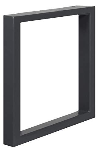HOLZBRINK Tischkufen aus Vierkantprofilen 60x30 mm, Tischgestell 40x43 cm, Anthrazitgrau, 1 Stück, HLT-01-D-BB-7016