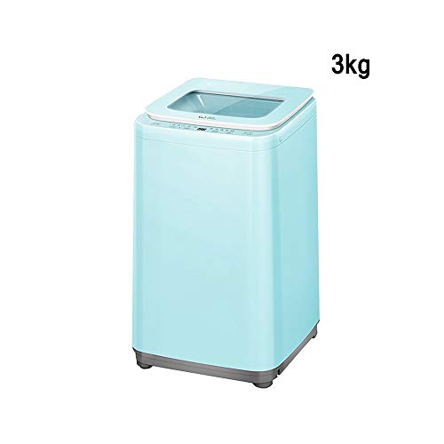 XSJZ Lavadora Verde, Elución Compacta, Lavadora Independiente de Alta Temperatura de 3kg, Adecuada for Dormitorios En El Hogar Lavatrice Slim