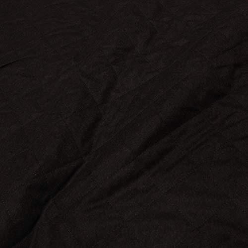 kawenSTOFFE Tissu matelassé en Laine avec Rembourrage en Molleton Marron foncé ouatiné