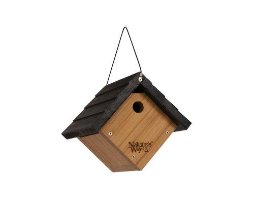 Droll Yankees Nyjer Feeder (Nature 's Way Vogel Produkte BWH1Bambus Traditionelle Zaunkönig Vogelhaus zum Aufhängen)