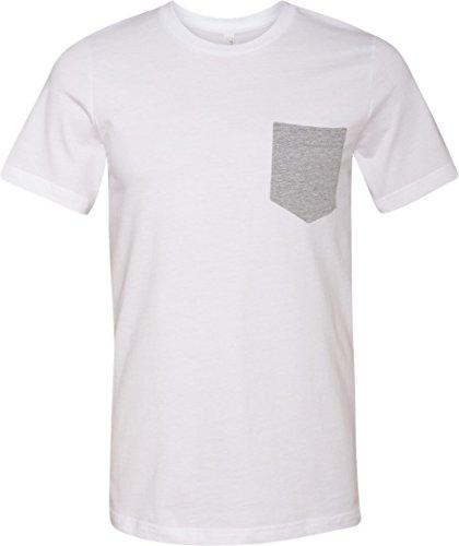 Bella + Canvas be3021–Shirt Brusttasche Kontrastfarbe White/Athletic Heather