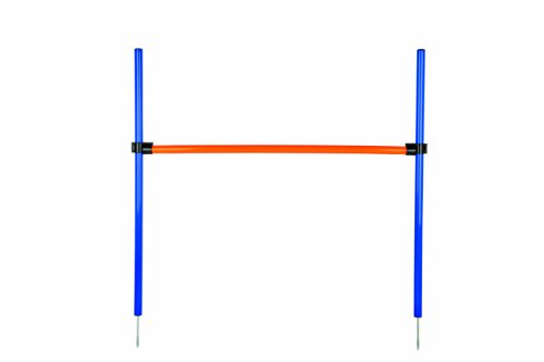 Trixie 3207 Dog Activity Agility Hürde, 123 × 115 × ø 3 cm, blau/orange
