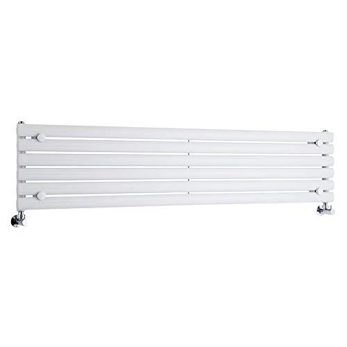 Hudson Reed Hudson Reed - Radiateur Design Vitality en Acier Haut de Gamme - Horizontal - Blanc cassé - 160 x 35.4cm - 6 colonnes...