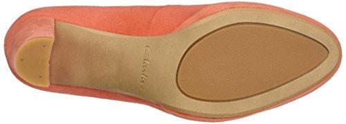 Clarks Damen Kendra Sienna Pumps Orange (Coral Suede)