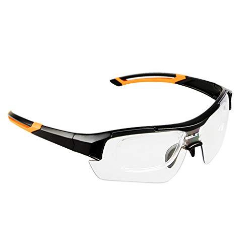 Sharplace Männer Frauen Polarisierte Sonnenbrille Sportbrille mit wechselbare Linsen UV400 Schutz Radbrille Fahrradbrille - Schwarz Orange (Sonnenbrille, Frauen Dunkle Linse Schwarze)