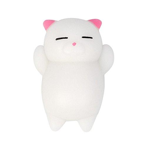 Anti stress spielzeug FORH Nette Mochi Katze Squishy Spielzeug weiche Squeeze Toys Healing Spaß Kinder Bunte Kawaii Stress Decor (G)