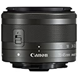 Canon EF-M 15-45 mm f/3.5-6.3 IS STM Obiettivo Zoom Grandangolare per EOS-M, Nero/Antracite