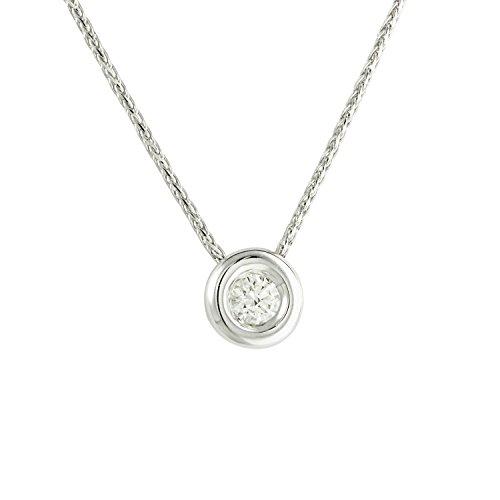 Diamond Line Damen - Halskette 585er Gold 1 Diamant ca. 0,08 ct, weißgold