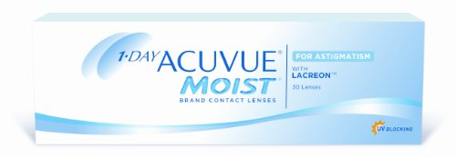 Acuvue 1-Day Moist for Astigmatism Tageslinsen weich, 30 Stück / BC 8.5 mm / DIA 14.5 / CYL -1.25 / Achse 10 / -2.50 Dioptrien