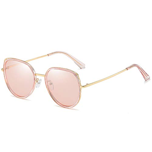LDY Sonnenbrille für Frauen, UV-Schutz, Metallrahmen, Ultra Lightweight - Pink
