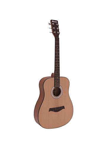 showking Westerngitarre Buttom in Standard Form, Natur - hölzerne Stahlsaitengitarre für Einsteiger - klangbeisser
