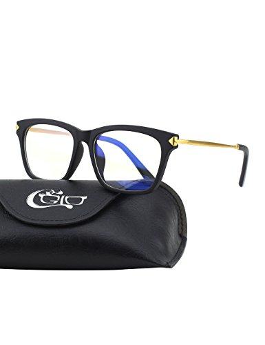 CGID CT34 Premium TR90 Frame Blue Light Blocking Glasses,Anti Glare Fatigue Blocking Headaches Eye Strain,Safety Glasses for Computer/Phone/Tablets,Flexible Unbreakable Frame,Transparnet Lens