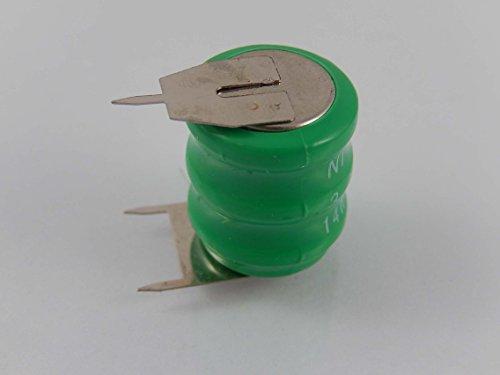 vhbw 14H NI-MH Akku 80mAh (3.6V) 3 Pins für Modellbau, Solarleuchten, Telefon, etc.