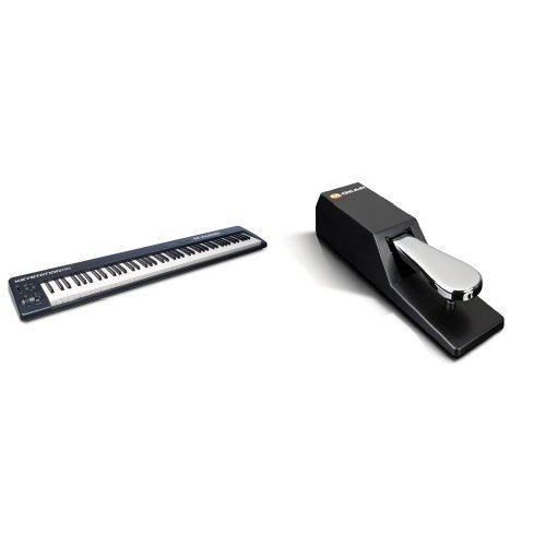 M-Audio Keystation 88 II USB MIDI Keyboard Kontroller mit 88 anschlagdynamische Pianotasten + M-Audio SP-2 | Universal Sustain Pedal / Dämpferpedal Bundle