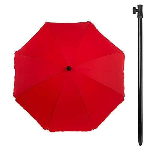 Aktive Sonnenschirm für Garten mit Filter Solar-200 cm Durchmesser rot (Colorbaby 85302)
