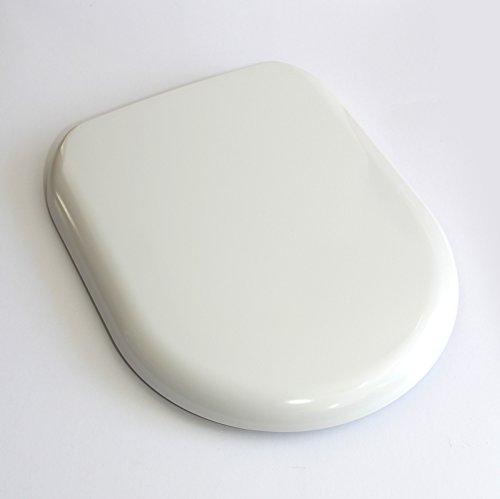 fixthebog weiß Soft close Luxus duraplas WC WC-Sitz oval Form oben oder unten Fix Scharniere chrom (Soft-wc-sitz Oval)