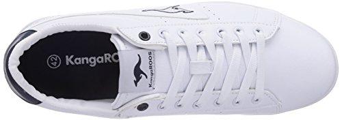 KangaROOS K-Classic 7054, Herren Sneakers Weiß (white/royal blue 044)