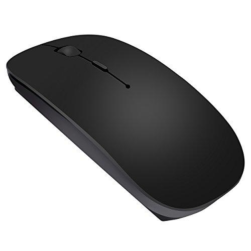 bongem® UltraThin Mute Knopf Wireless Bluetooth Maus für Win OS & #-; Mac OS und Android 4.0OS Up–Schwarz