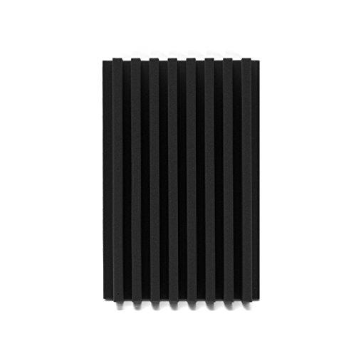 EsportsMJJ 120X30X 7.5 Cm Acoustique Wedge Studio Panneau Insonorisé Mousse Éponge Conseil - Noir