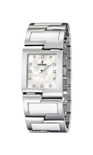 Festina Ladies Watch F16535/3 With White Ceramic Inlay