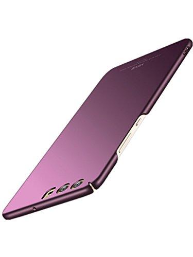vanki Huawei P10 Hülle 2 in 1 Hart PC Schutzhülle Transparent Case Cover Bumper Anti-Scratch Handyhülle für Huawei P10 (Huawei P10, Glatte Lila)