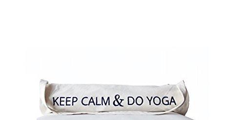 Amore SONP Handarbeit Custom Yoga Matte Tasche in hochwertiger–Hand bestickt Baumwolle Yoga Tasche mit Keep Calm And Do Yoga Nachrich...