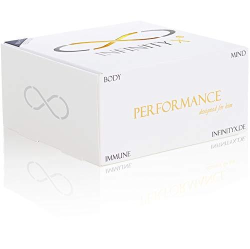 Performance White | Testosteron-Kur in 30 Einzelportionen | Hochdosiert | Muskelaufbau | 210 Kapseln | Laborgeprüft | Made in Germany | von INFINITY X