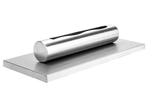 Bio-Ethanol-Kamin Eco Tischplatte INOX Bio-Kamin Heizung Brenner Feuer Tisch Tragbare + Dekorative Steine + 1 Liter BIO-Kraftstoff (Grundset + Bio-Brennstoff)
