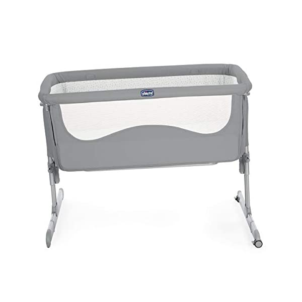 Chicco Next2Me Unisex Cot for All Beds Pearl Grey  Adjustable height in 6 positions Compatible with almost all beds Tiltable so baby breathes better 4