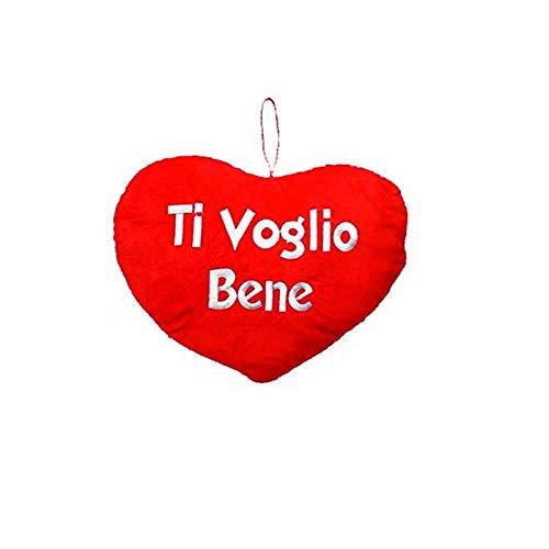 Mood srl san valentino cuore peluche con scritta ti voglio bene cm 28x23cm circa