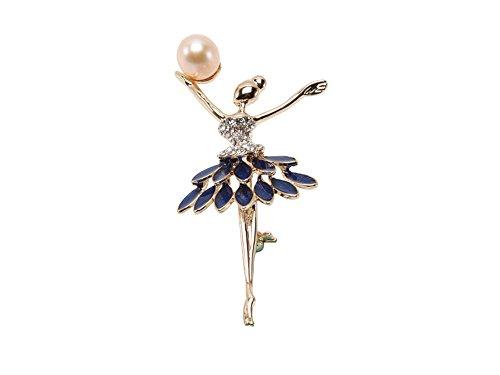 jyx 10x 13mm Rosa Süßwasser-Perle Brosche Pin Corsage Hochzeit Bouquet Weihnachten Geschenk - Pearl Mädchen Jacke