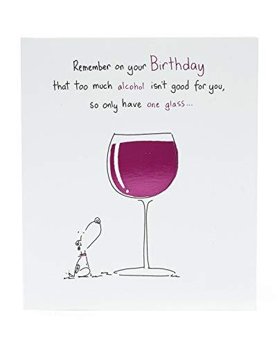 Biglietto di auguri di compleanno divertente, biglietto di compleanno per amici, biglietto di vino per compleanno, biglietto per cane, biglietto regalo per lei, regalo di compleanno per lei