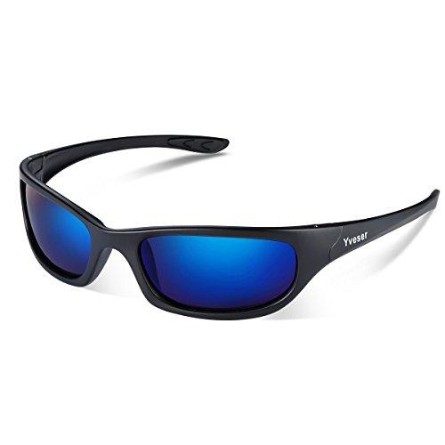 Yveser Polarisierte Sonnenbrille, Sportbrille mit UV400 Schutz für Damen & Herren - Autofahren Laufen Radfahren Angeln Wandern Ski Golf Yv148