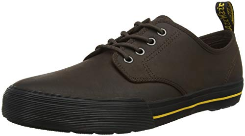 Dr. Martens Pressler, Sneaker Unisex-Adulto, Marrone (Dark Brown 201), 37 EU