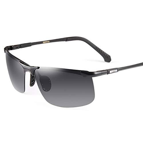 SUNGLASSES Herren Sonnenbrillen, Driving Around Brillen Wrap Wayfarer Polarized Für Herren Resin Mens Day Night Aviator Sonnenbrillen (Color : C)
