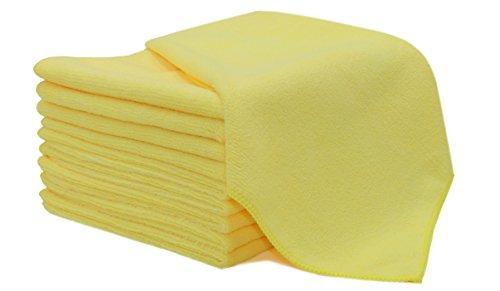 Zollner 10er Set Microfasertuch Putztücher, Größe ca. 40x40 cm, gelb (weitere verfügar)