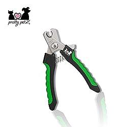 pretty petZ Krallenzange für Hund & Katze in Top Qualität | Krallenschere mit Schutzvorrichtung für die optimale Krallenpflege | + GRATIS E-Book