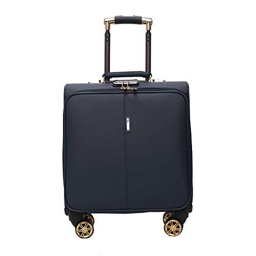 Chooseator Praktisches Gepäck, Business-Trolley-Computer-Reisetasche, PU-Material, Kratzfest und tragbar, angenehmes Handgefühl, Kleiner Koffer Softboarding-Koffer für Damen und Herren