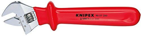 Knipex Rollgabelschlüssel verstellbar 260 mm (98 07 250), Rot