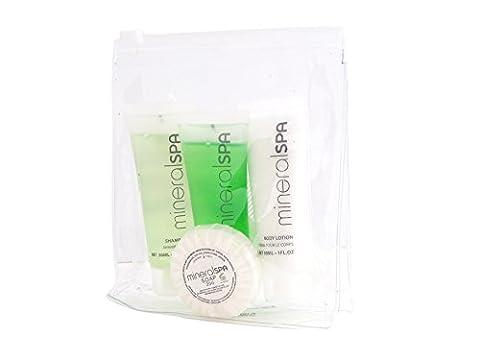 Mineral Spa Miniature Bath Travel Size Set - Shampoo 30ml, Bath & Shower Gel 30ml, Body Lotion 30ml, Soap 20gm &