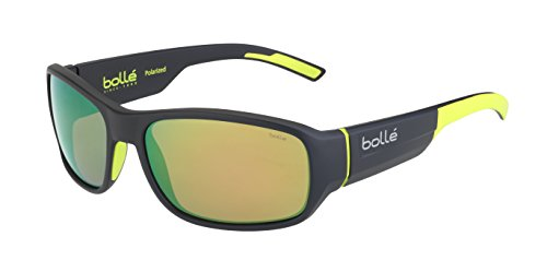bollé Erwachsene Heron Sonnenbrille, Matt Dark Grey Yellow, Medium