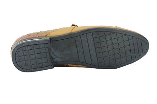 Da uomo nero marrone chiaro in finta pelle stile italiano Smart Casual Slip On con frange nappe Mocassino scarpe Tan and Brown