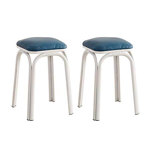 DSHUJC Stühle aus Kunststoff stapelbare Hocker Round Top Restaurants Hocker Restaurant Metallfuß-Pack-2 Bequeme für Küche, Wohnzimmer, usw. -